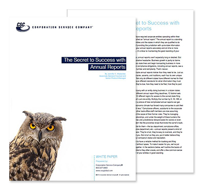 The Secrets to Success with Annual Reports White Paper