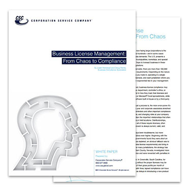 Business License Management White Paper