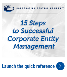 15 steps to Corporate Entity Management Guide