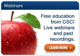 Sign up for free CSC webinars!