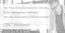 Entity Management Software Top Considerations