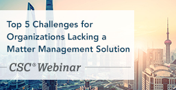 Matter Management Challenges