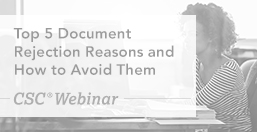 Top 5 Document Rejection Reasons