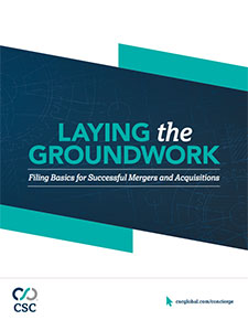 Laying the Groundwork - Filing Basics for Mergers and Acquisitions PDF