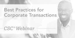 Corporate Transactions Best Practices