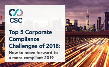 Top 5 Corporate Compliance Challenges of 2018