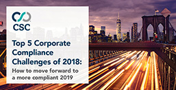 Corporate Compliance Challenges of 2018